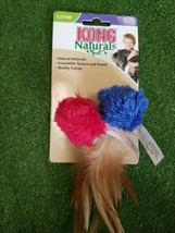 Kong Natural Crinkle Balls two (2) Pk Feathers Cat Toy Brand New Assorte... - £7.84 GBP