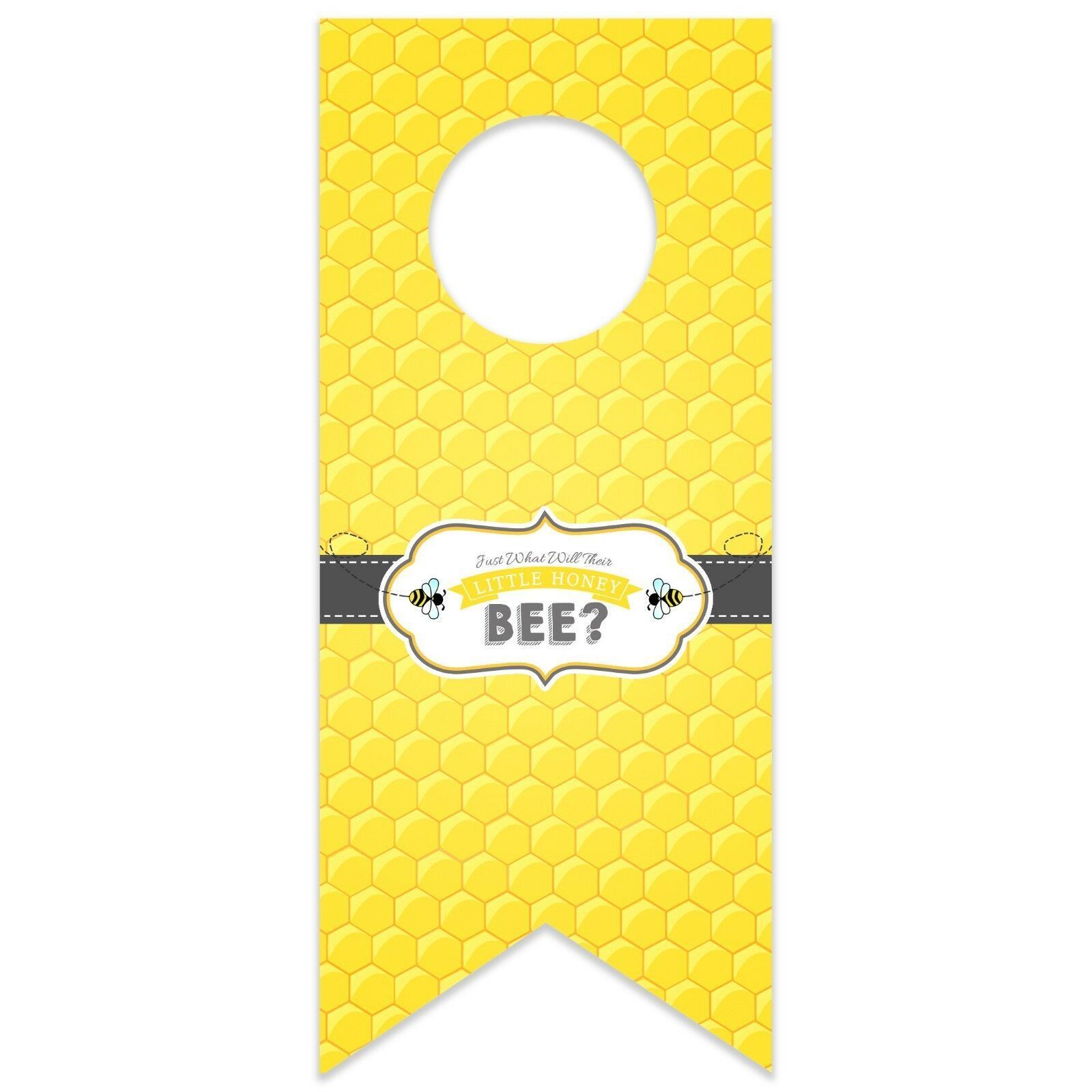 Honey Bee Baby Shower Personalized Water Bottle Hang Tag
