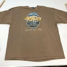 The Harley Shop Charleston T Shirt Men's 2XL Short Sleeve Brown Preshrun... - $18.95