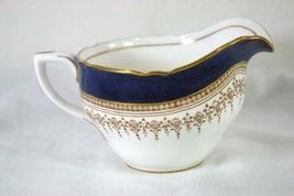 Royal Worcester Regency Blue Creamer #21686 image 3