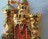 "KIRKS FOLLY Castle with Drawbridge that Opens - 3 1/4"" - Dragonfly Turtle Frog"