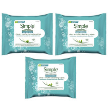 3-New Simple Daily Skin Detox Clear + Matte Cleansing Wipes, Cleanses fo... - $20.69