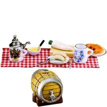 Oktoberfest Snack 1.790/7 Reutter w Beer Barrel Picnic DOLLHOUSE Miniature - $69.51