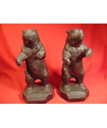 """7 1/2"""" Tall, Cast White Metal, Standing Bear, Brown University Book Ends - $249.99"""