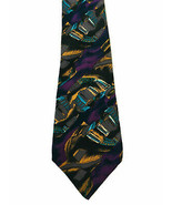 Vintage J Garcia Necktie Tie Abstract Vibrant Purple Orange Beauty Silk ... - $9.90