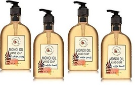 4 Bath & Body Works Fiji White Sands Monoi Oil Hand Soap 8 fl oz ea - $25.25