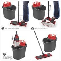 O-Cedar Ultra Max Mop Bucket Kit Set Microfiber Flat Cleaner Machine Was... - $41.74