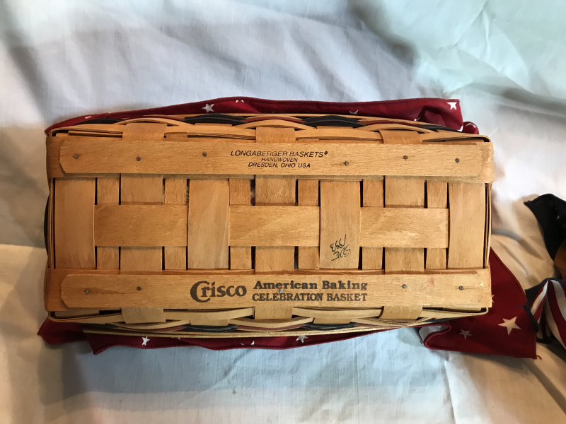 Longaberger 1993 Crisco American Baking Celebration Basket