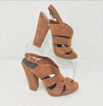 Jessica Simpson Womens Brown Suede Boho Platform Sandals Size 10 - $22.72