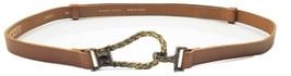Chico's Womens Adjustable Belt Genuine Leather Brown Size Medium/Large - $14.49