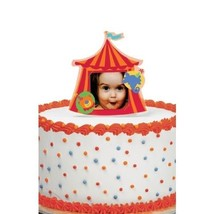 "Wilton Big Top Photo Cake Topper 5"" Tall Party Birthday Picture Holder Baby - $5.44"