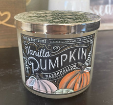 Bath and Body Works Vanilla Pumpkin Marshmallow 3-Wick Candle- *NEW* - $19.00