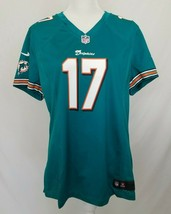 Miami Dolphins Nike Womens 2XL Ryan Tannehill Jersey Teal Retro Logo #17... - $29.99