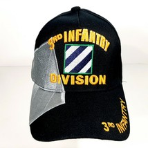US Army 3rd Infantry Division Men's Ball Cap Hat Black Embroidered Acrylic - $12.37
