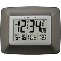 La Crosse Technology WS-8008U Atomic Digital Wall Clock with Indoor Temp... - $37.50