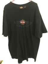 Harley Davidson Men's T Shirt Size 2XL 2003 Black 100% Cotton Tee  - $23.75