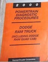 2000 Dodge Ram Truck 1500 2500 3500 Powertrain Diagnostic Service Manual Cummins - $69.25