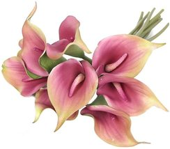 """13"""" Real Touch Lataex Calla Lily Artificial Flowers Bridal Wedding Bouquets - $13.90"""