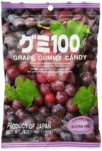 Japanese Fruit Gummy Candy from Kasugai - Grape - 107g - $11.87