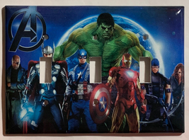 Comics Heroes iron-man Hulk Light Switch Outlet Toggle Wall Cover Plate Home dec image 6