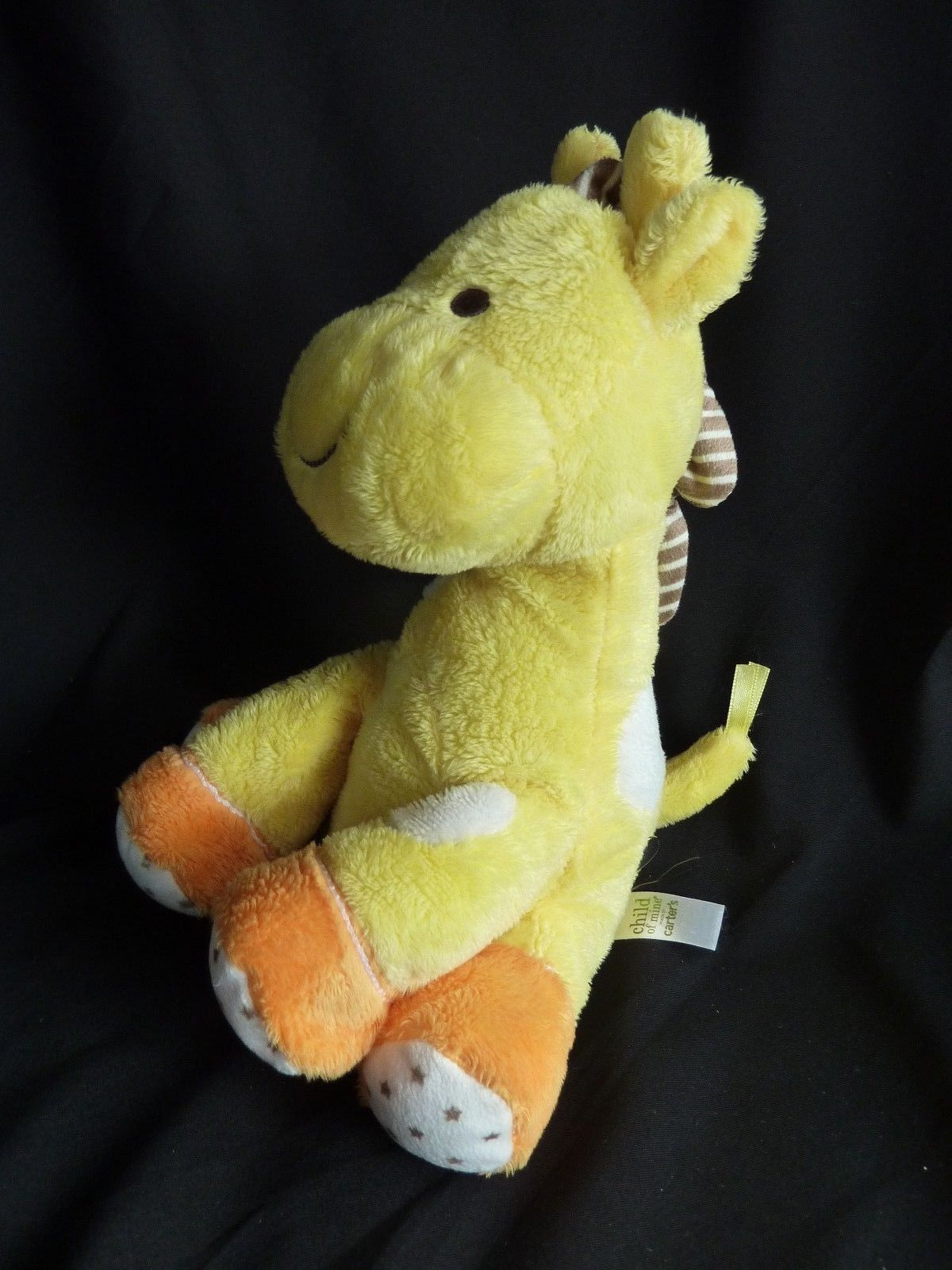 Primary image for CARTERS Child of Mine Musical Giraffe Yellow Stars Motion Plush Baby Toy