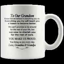 Custom 11oz Coffee Mug To Our Grandson Birthday, Wedding, Christmas Gift - $19.95