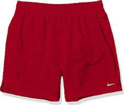 "Nike Men's Solid Lap 7"" Volley Short Swim Trunk,Maroon,M - $24.51"