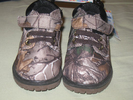 Sz 4 5 REALTREE XTRA GARANIMALS Infant Boys' Hiker Camo Hunter Boots NEW... - £10.73 GBP