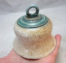Vintage hand thrown Studio pottery bell - $11.69