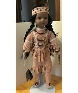 Sacagawea House of Lloyd Doll 1990 Porcelain 16 Inches - $28.04
