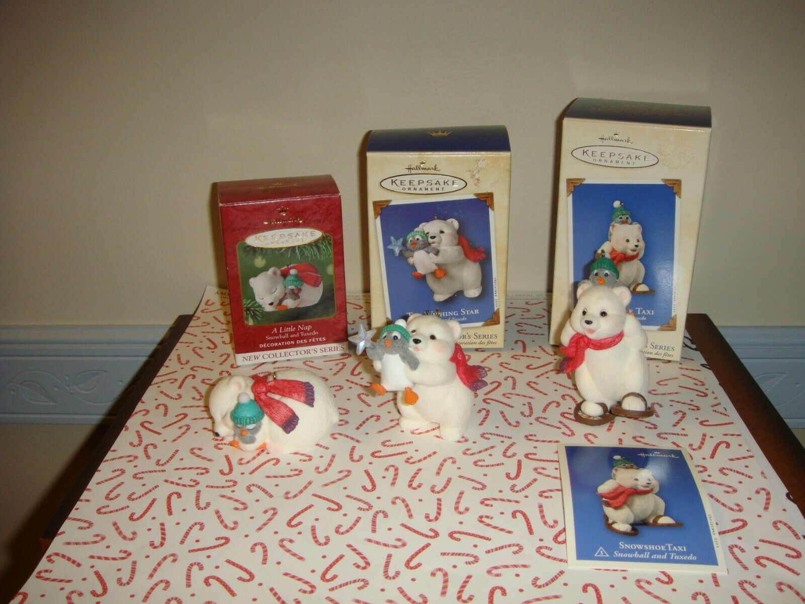 Primary image for Hallmark 2001, 2002 & 2003 Snowball & Tuxedo Series 1st, 2nd & 3rd  Ornament