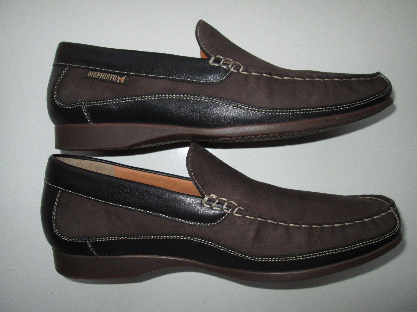 "3c54992444a Mephisto 715081414956 Baduard Slip-On Men Loafer Shoes Brown 9.5E (10.5""  feet"