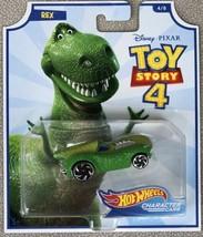 Hot Wheels TOY STORY 4 Character Car REX #4/8 Disney Pixar 2019 - Brand New - $6.95