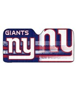 NFL New York Giants Logo Deluxe Universal Fit Auto Windshield Sun Shade - $29.95