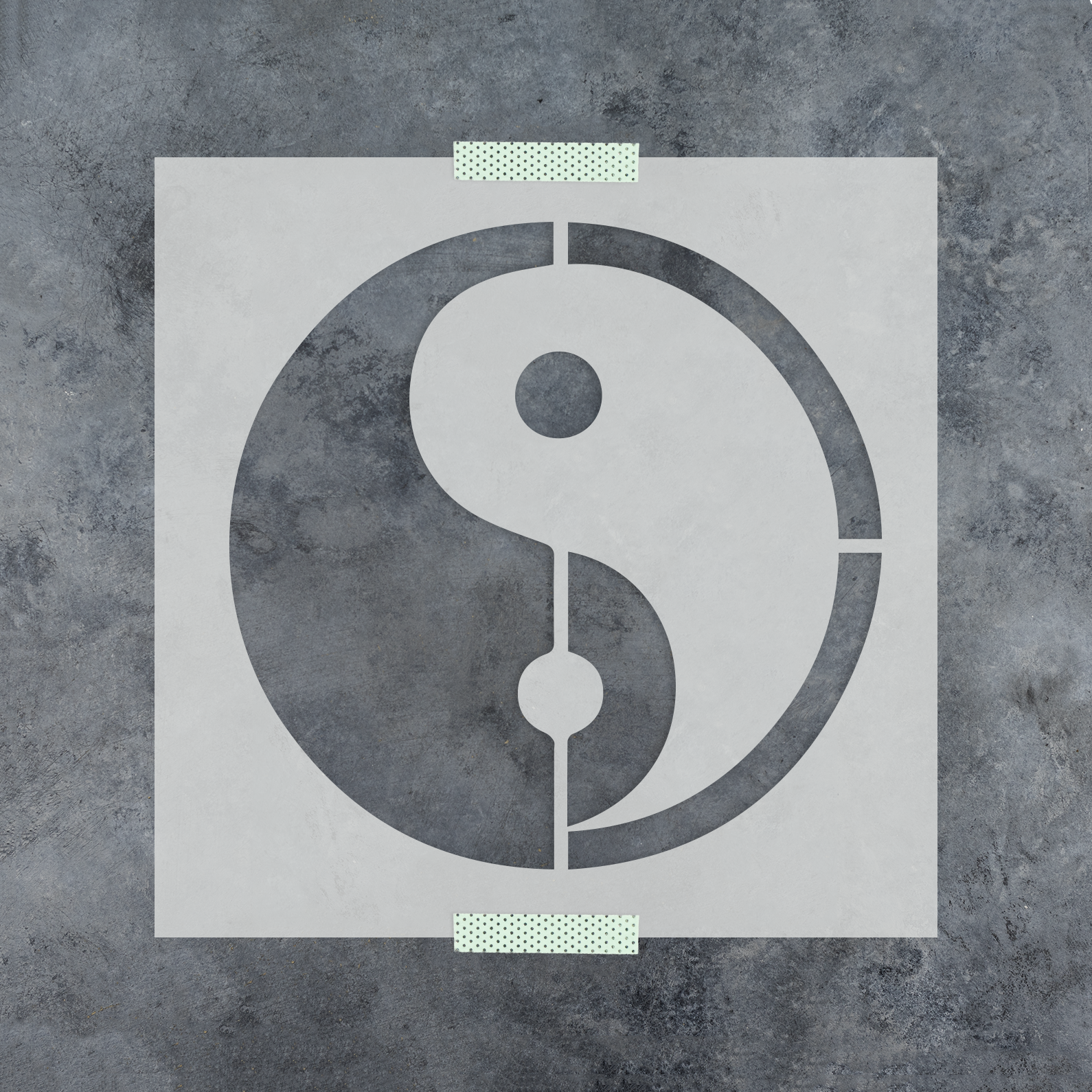 Yin Yang Stencil - Reusable Stencils of a Yin Yang in Small & Large Sizes
