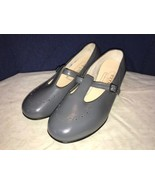 P. W. Minor Orthopedic Grey Strap Heels 7.5 EEE Extra Wide Removable Insole - $34.64