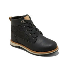 Cat & Jack Boys Black Joah Fashion Boots NWT