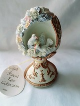 """Lefton China Royal Egg Doves Music Box plays """"I Love You Truly - $24.75"""