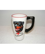 2002 I LOVE MY ROTTWEILER 12 OZ CERAMIC COFFEE MUG BY MIA LANE GUC - $24.99