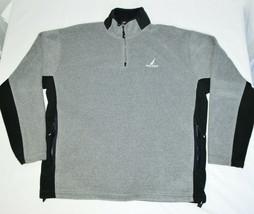 Nautica 1/4 Zip Pullover Fleece Jacket Sweatshirt Long Sleeve Gray Black Mens XL - $34.53