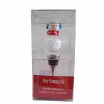 Pier 1 Imports Snowman Wine Bottle Stopper Christmas Bouchon de Bouteille - $12.16
