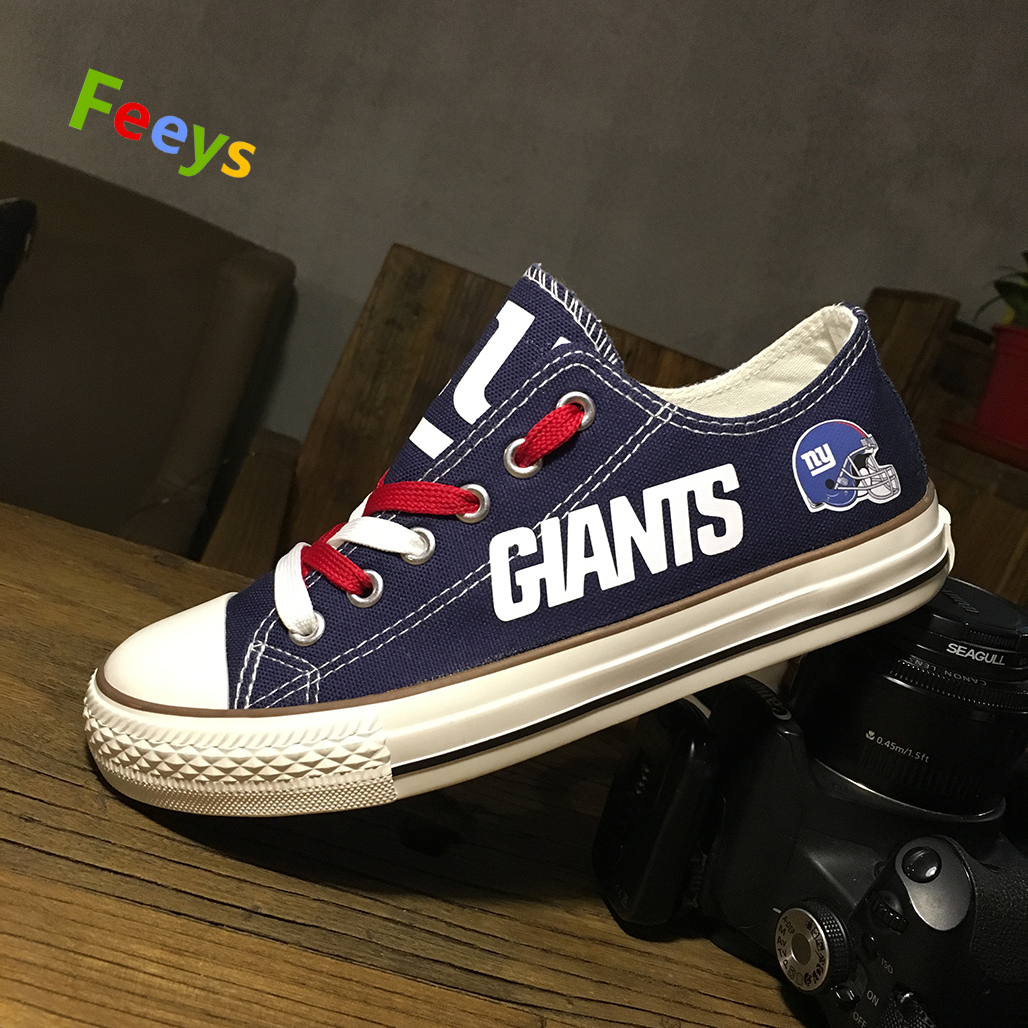 giants shoes womens sneakers new york fans fashion gift mens custom canvas shoes