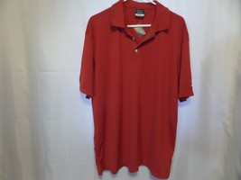 Nike Golf Dri Fit Men Shirt size xl Red Short Sleeve Polo - $25.05