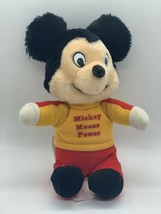 "Vtg Ganz Bros Knickerbocker Mickey Mouse Power Plush Nut Shell Filled Toy 8"" - $8.02"