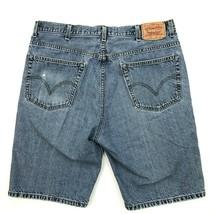 Levi's 505 Short en Jeans Délavé Décontracté Jorts Fermeture Éclair Mouc... - $21.75