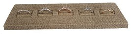 Burlap Ring Display Stand for Showcase \ Burlap Ring Display Slotted Stand - $21.67 CAD