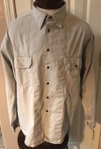 Levi's Modern Authentics Light Tan Beige Button Front Shirt Mens XL - $19.75