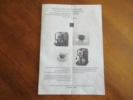 DeLonghi Espresso EC-155 Replacement Part Manual Instructions Only - $8.99