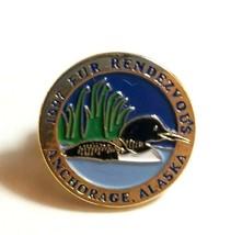 VTG Collectible Pin - 1997 Fur Rendezvous Rondy Anchorage Alaska Loon Bird  - $11.03