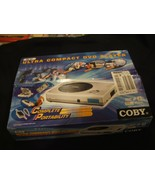NEW IN BOX COBY DVD PLAYER WIRELESS REMOTE AC/DC CORD STILL SEALED NEVER... - $98.01
